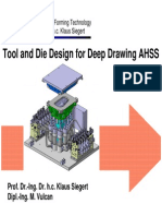 13 - Tool and Die Design for Deeping Drawing AHSS
