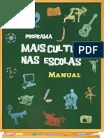 Manual de Orientações - Programa Mais Cultura nas Escolas