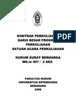 Silabus Hukum Surat Berharga UNDIP