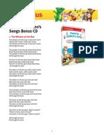 Favorite Childrens Songs DVD CD Lyrics