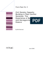 Civil Society Capacity Buidling in Post Conflict Societies