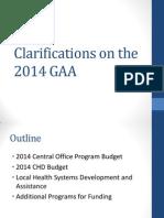 Clarifications on the 2014 GAA_01202014_lmt