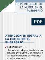 Atencion Integral en El Puerperio