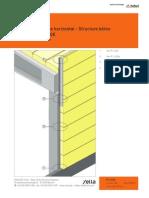 P1 Dalles de Bardage Montage Horizontal - Structure Beton