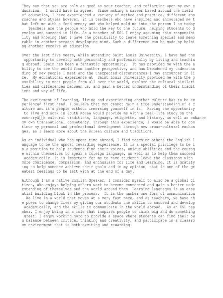 Essay about korean education