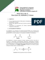 práctica 2 - Reacciones de aldehídos y cetonas
