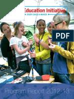 Maker Ed 2013 Program Report