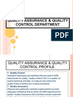 Quality Assurance & Quality Control Department