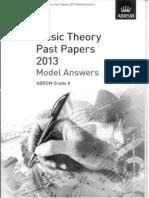 ABRSM G8 2013 Grade 8 Theory Answer