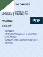 Tema 44. Tetraciclinas. Cloranfenicol