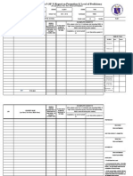 Modified School Form 5 - Report on Promotion Level of Proficiency
