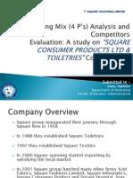 Marketing Mix (4 P's) Analysis on SQUARE