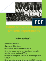 School Officers and Other 6th Form Opportunities