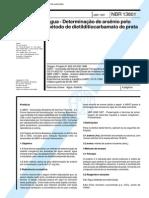 NBR 13801 (Abr 1997) - Água - Determinação de arsênio pelo método de dietilditiocarbamato de prata
