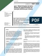 NBR 13808 (Abr 1997) - Água - Determinação de bário - Método da espectrometria de absorção atômica por chama
