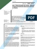 NBR 13810 (Abr 1997) - Água - Determinação de metais - Método de espectrometria de absorção atômica por chama
