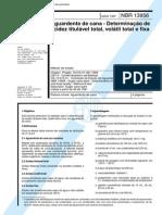 NBR 13856 (Maio 1997) - Aguardente de cana - Determinação de acidez titulável total, volátil total e fixa