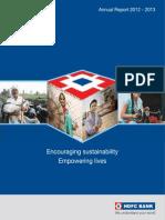 HDFC Bank AnnualReport 2012 13