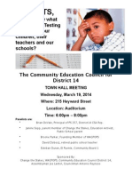 D14 Town Hall on High Stakes Testing