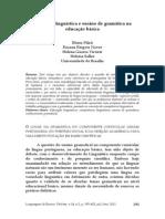 Educação Linguística e ensino de gramática na educação básica