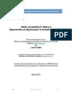 Wikis Blogues Et Web 2 0
