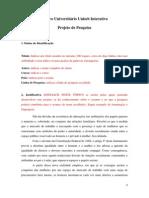 Modelo de Projeto de Pesquisa