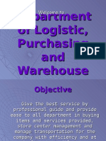 Department of Logistic, Purchasing and Warehouse