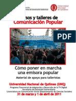 Cursos y Talleres de Comunicacion Popular