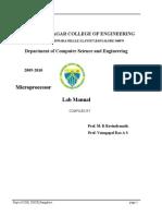 Microprocessor Lab IV Sem