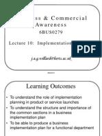 B&W Presentation 10 - Implementation Planning