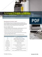 Coagulómetro Sysmex CA-600
