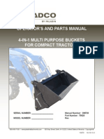 Loader 4 in 1 Bucket Installation and Parts Manual Om720