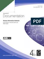 Human Information Behavior (Journal of Documentation)