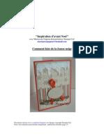 Inspiration d'Avant Noel --Cours No 2 Fausse Neige
