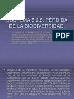 5.2.5 Perdida Biodiversidad