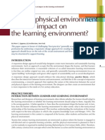 Can Physical Environment Impact Learning Environment