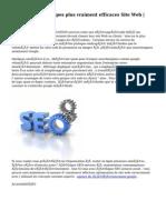 Haut Quatre  Principes   plus vraiment efficaces    Site Web   SEO services