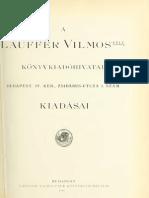 A Lauffer Vilmos-féle könyvkiadóhivatal kiadásai