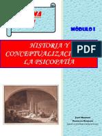 Tema 1. Historia y Conceptualizacion de La Psicopatia