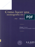 Como Hacer Una Monografia en Derecho