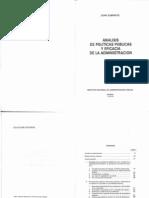 Subirats Joan - Analisis de Politicas Publicas Y Eficacia de La Administracion