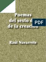Poemas del sexto día de la creación - Raúl Navarrete