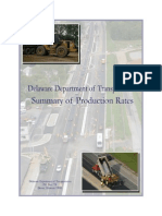 Delaware Department of Transportation Summary of Production Rates