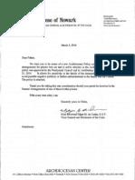Letter from Rev. Edgar M. da Cunha S.D.V.