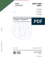 NBR 18801 - Sistema de Gestao Da Seguranca e Saude No Trabalho - Requisitos