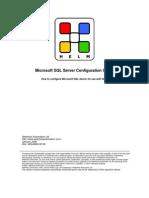 MSSQL Server Configuration Guide