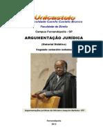 ARGUMENTAÇÃO JURÍDICA =MATERIAL DIDÁTICO 2013= (1)