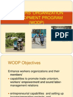 Workers' Organization Development Program (Wodp) Dole-ncr