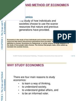The Scope and Methods of Economics(2) | Microeconomics