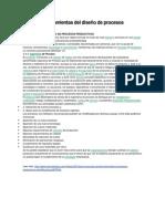 Fuentes y herramientas del diseño de procesos productivos